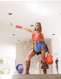 Adriana Chechik goes trick or treating and seduces the guy for some big dick treats.