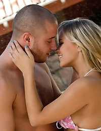 Alanna and her boyfriend enjoy a humid summer day by the pool, come and watch this hot couple while they share a moment of passion.