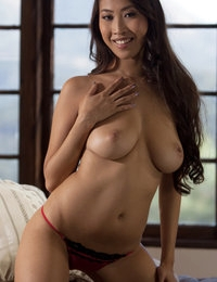 Sharon will amaze you with her perfect natural curves.