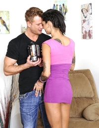 Gorgeous tattooed babe Bonnie Rotten fucks her friends boyfriends for comfort.