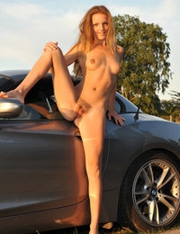 Eroberlin Kate Pearl hairy pussy BMW Convertible