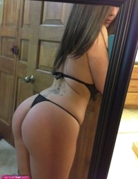 Sweet Victora takes some hot selfies in the mirror