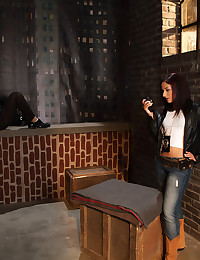 Sheena Ryder finds herself on a rooftop with Alan Stafford with nothing better to do than screw.