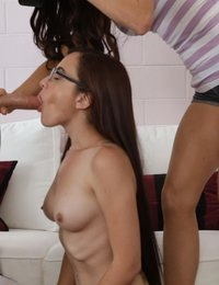 Hot Roxanne gets turned on by Kendall to enjoy some flirty dirty sex