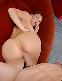 Callie spread her legs and got her pussy munched on with the roller blades on and then she sucked and fucked that cock and  rode that dick as her juicy ass bounced all around