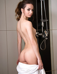 Nubiles.net Debora Alta - Sexy amateur gets down and dirty in the shower playing with her wet twat